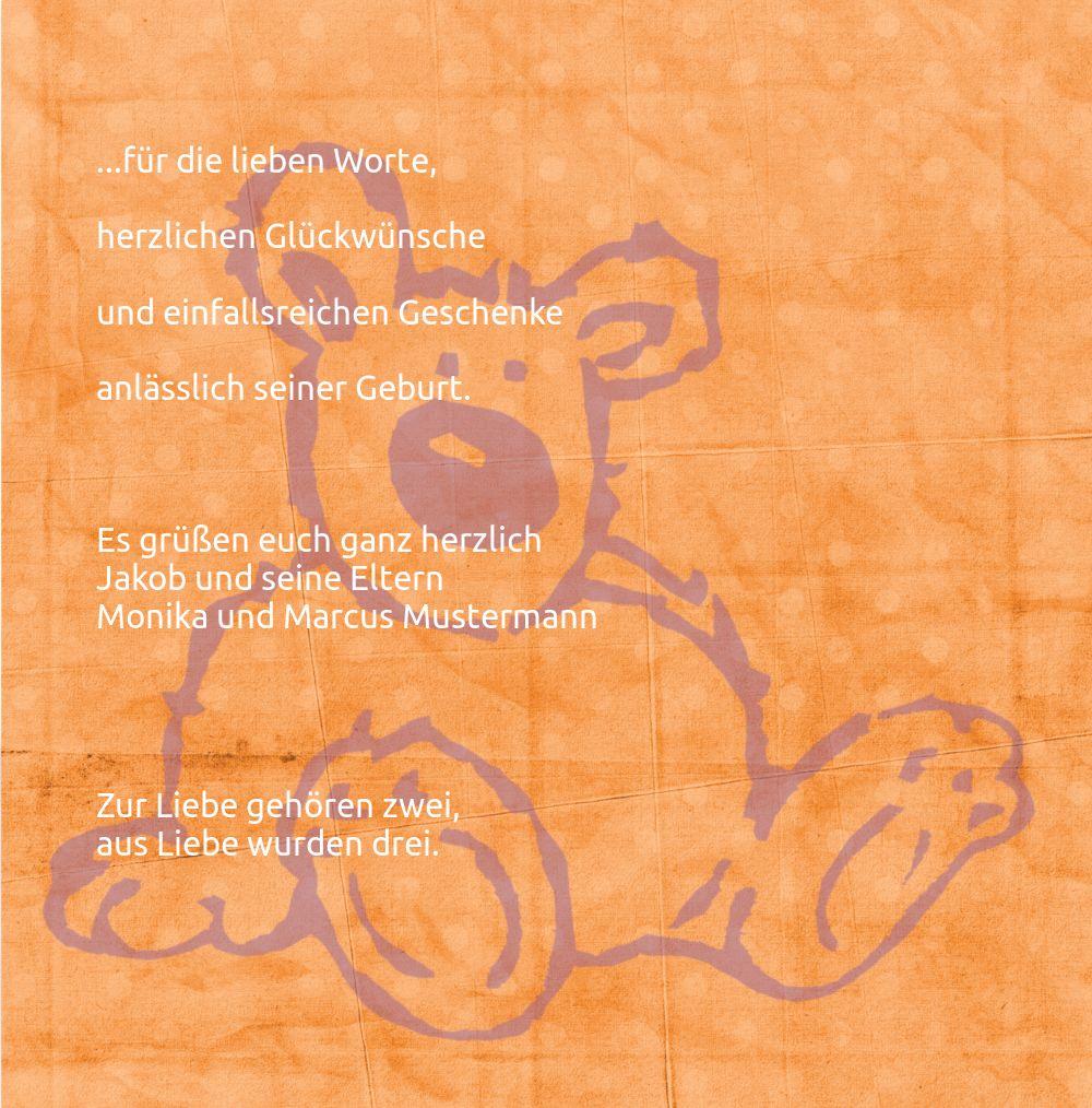 Ansicht 5 - Baby Dankeskarte Teddy-Star