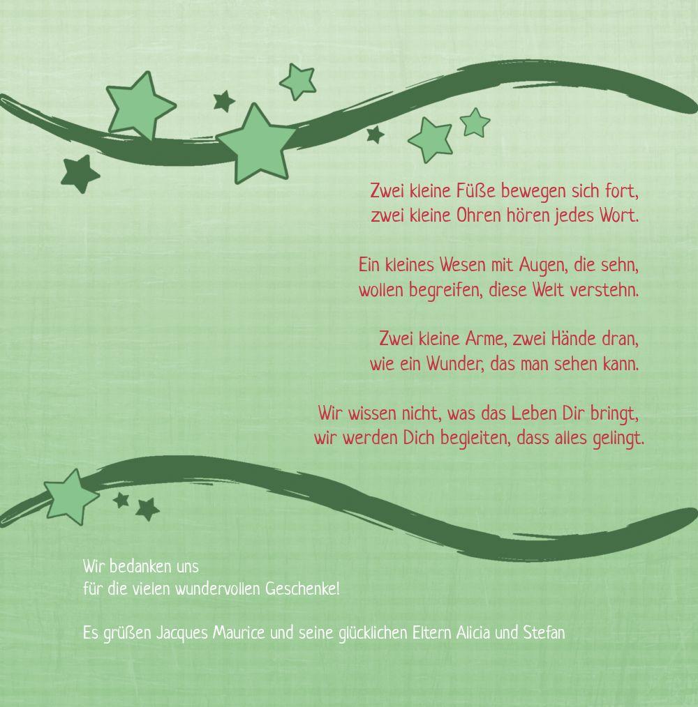 Ansicht 4 - Baby Dankeskarte Sternenwelle