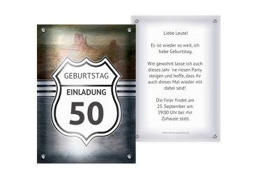 Einladungskarten Zum 50 Geburtstag Karten Paradiesde
