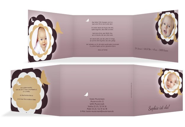 Babykarte Blütenzauber