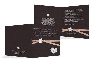 Schön Hochzeit Einladungskarte Sanfte Blüte PastellHellRot 145x145mm