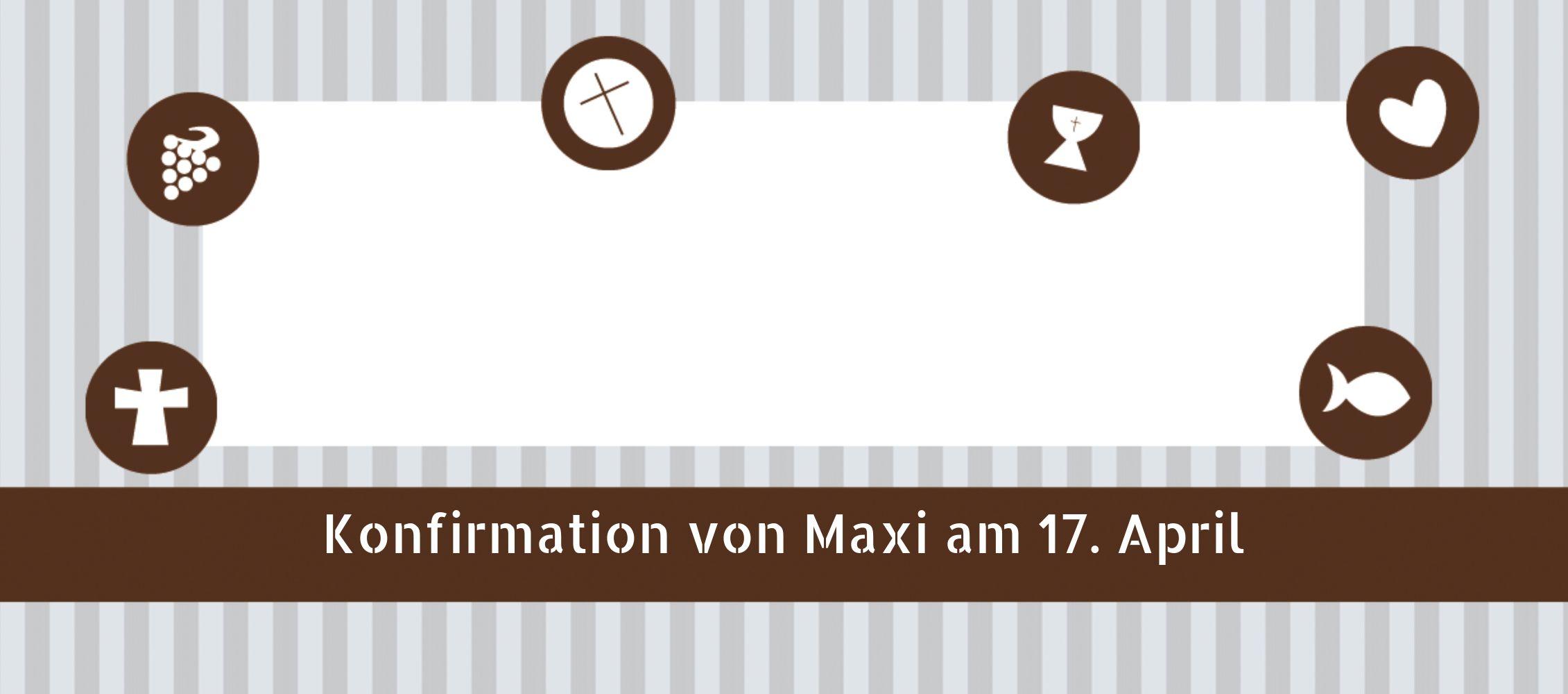 Ansicht 3 - Tischkarte Konfirmation stripes-buttons