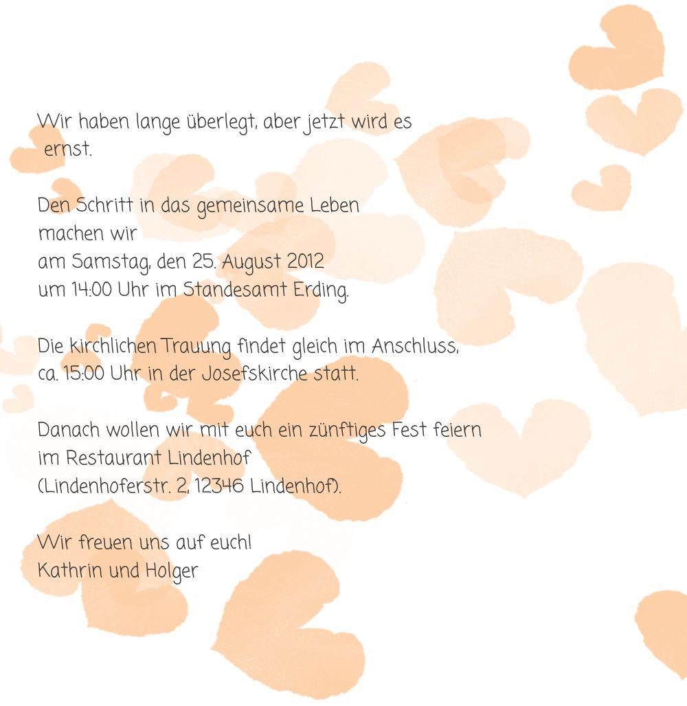Ansicht 6 - Hochzeit Einladung Liebesglück