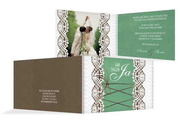 Hochzeit Einladung Vintage Schleife