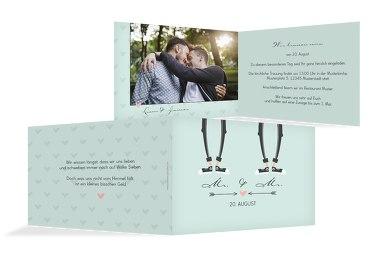 Hochzeit Einladung Pärchen - Männer