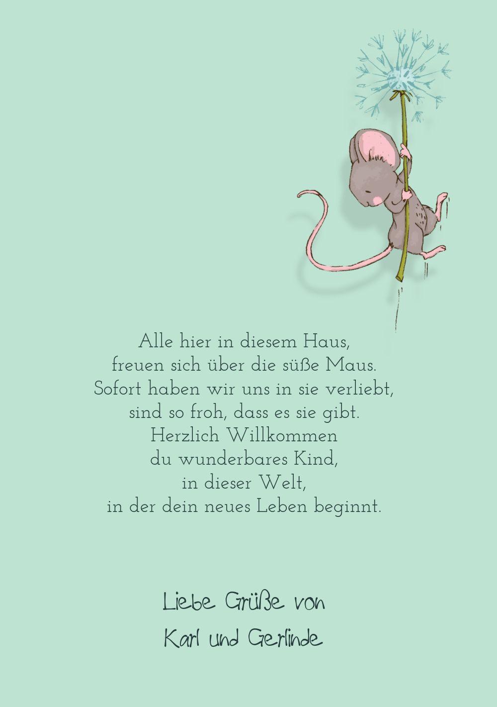 Ansicht 5 - Glückwunschkarte zur Geburt Mäuschen