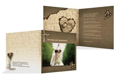 Hochzeit Dankeskarte Herzensgedicht