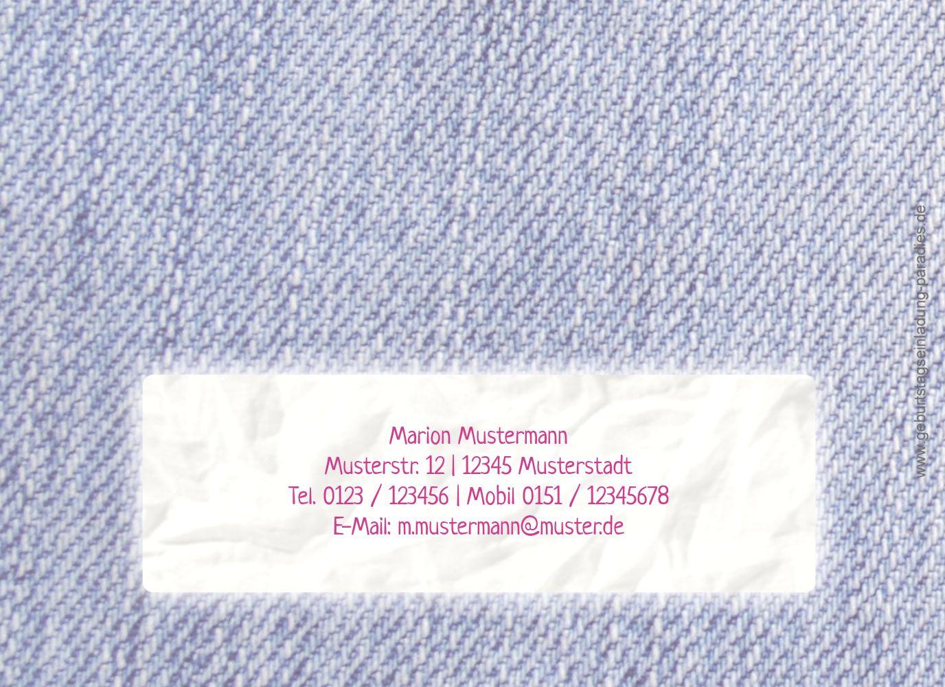 Ansicht 2 - Einladungskarte Waschzettel 60