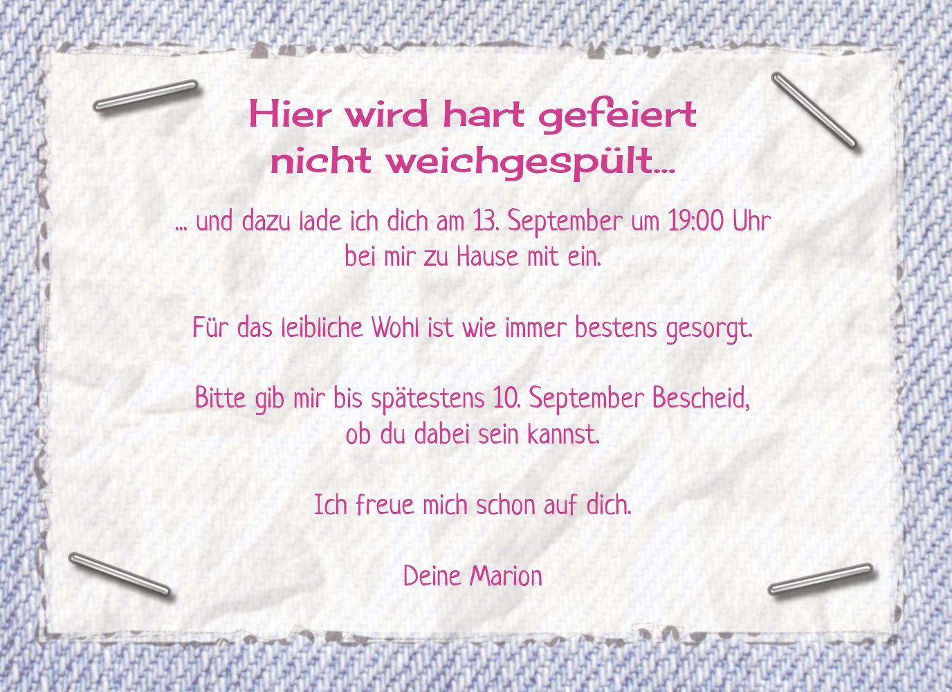 Ansicht 5 - Einladungskarte Waschzettel 60