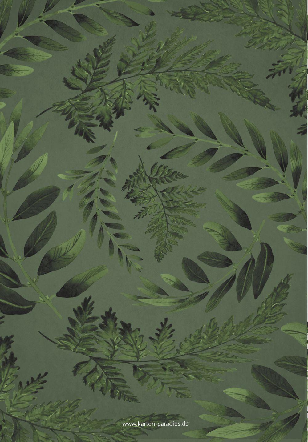 Ansicht 2 - Hochzeit Menükarte Blätterwerk