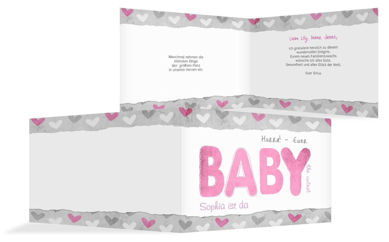 gl ckwunschkarte zur geburt cute baby selbst gestalten. Black Bedroom Furniture Sets. Home Design Ideas