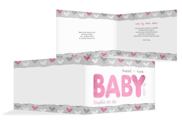 Glückwunschkarte zur Geburt Cute Baby