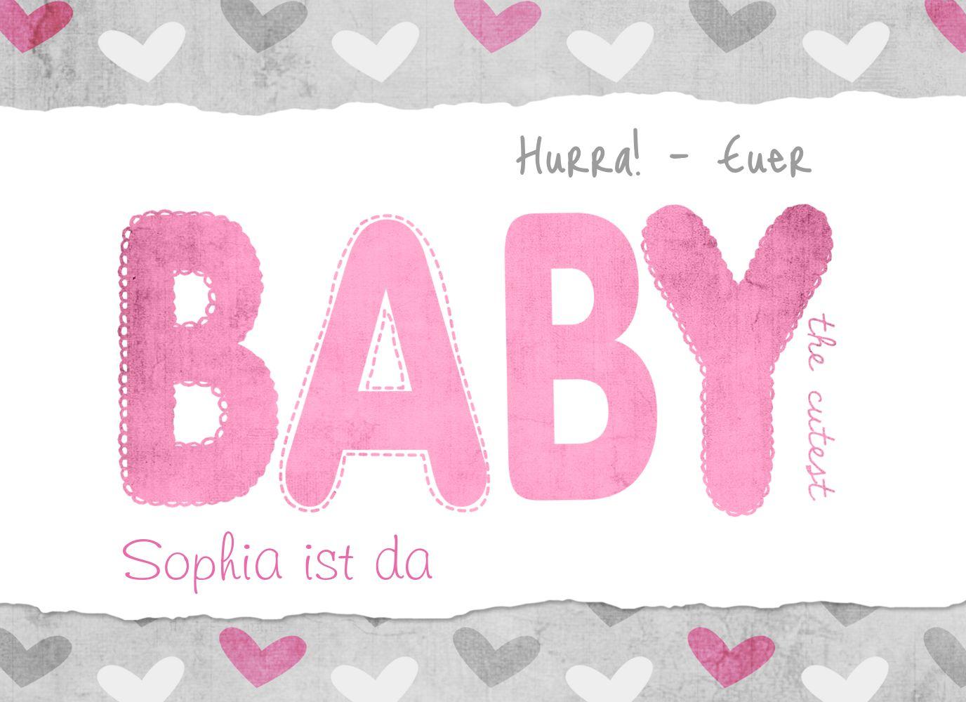 Ansicht 3 - Glückwunschkarte zur Geburt Cute Baby