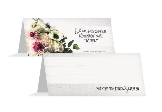 Hochzeit Tischkarte Bouquet