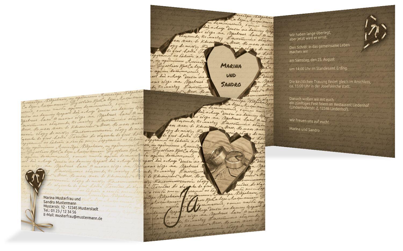 Hochzeit Einladung 2 Herzensgedicht