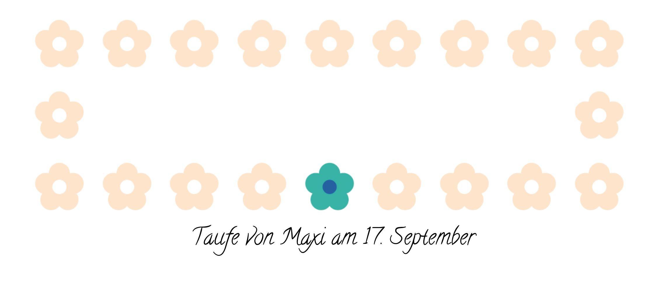 Ansicht 3 - Taufe Tischkarte Blumentapete