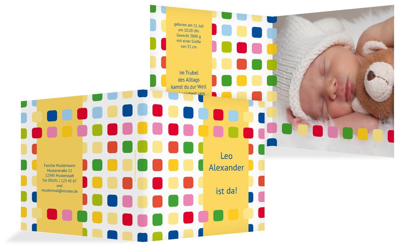 Babykarte Viereck