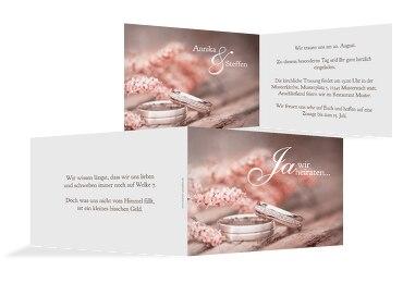 Hochzeit Einladung Ringe
