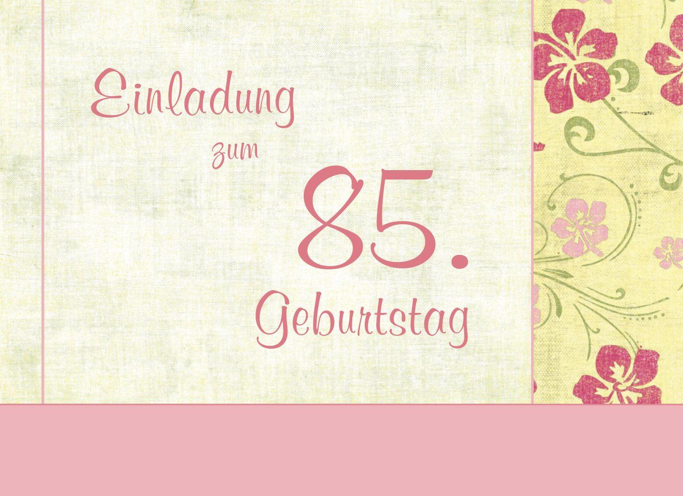 Ansicht 3 - Einladung zum Geburtstag Foto Hibiskus 85