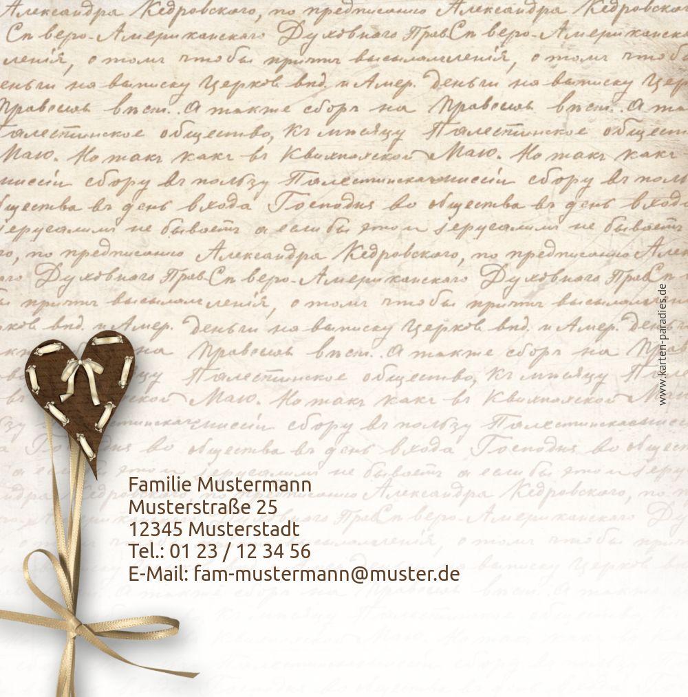 Ansicht 2 - Dankeskarte zur Geburt Gedicht mit Herz
