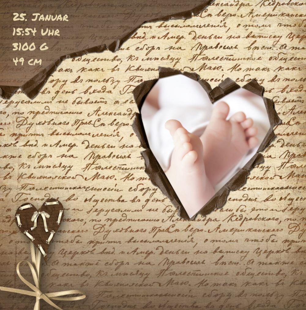 Ansicht 4 - Dankeskarte zur Geburt Gedicht mit Herz