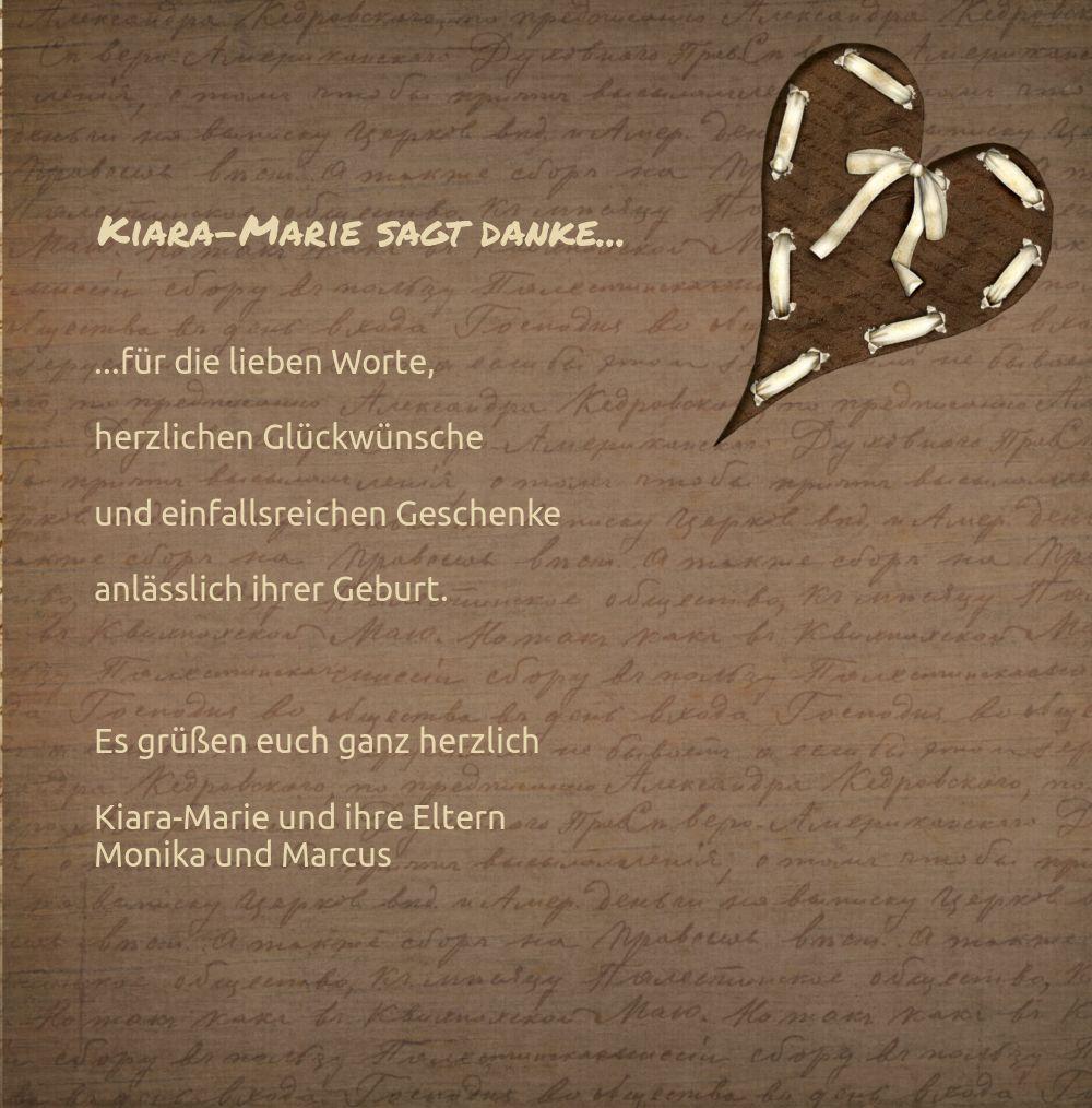 Ansicht 5 - Dankeskarte zur Geburt Gedicht mit Herz