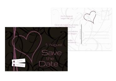 Hochzeit Save-the-Date Band