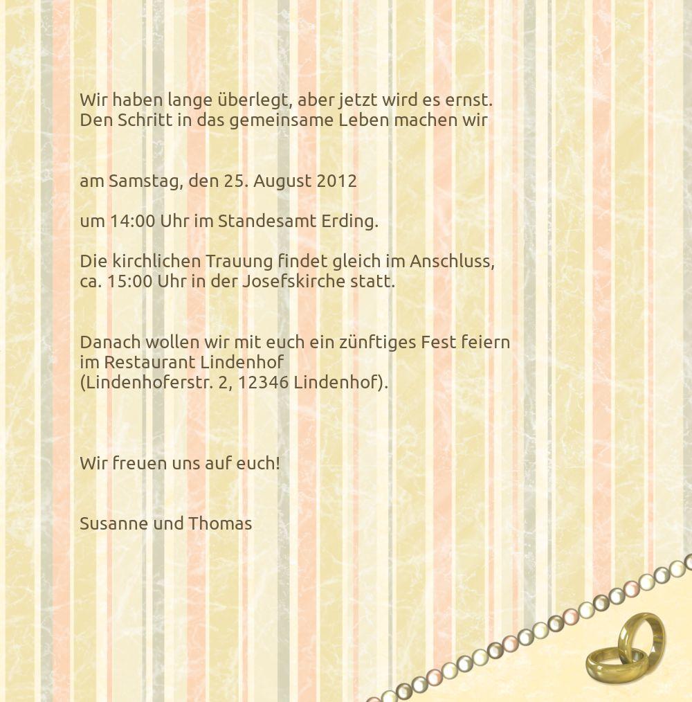Ansicht 5 - Hochzeit Einladung Bund für's Leben