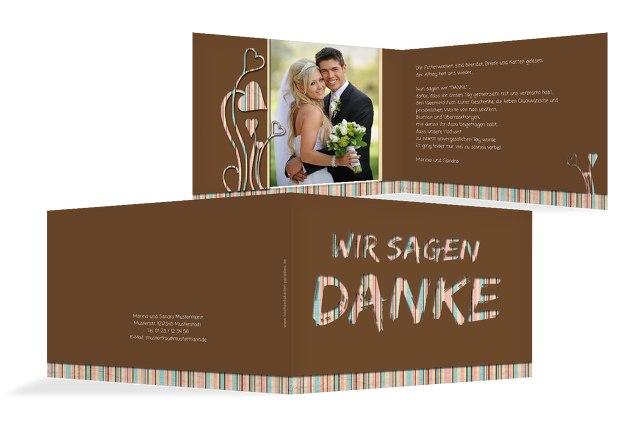 Hochzeit Dankeskarte Wir heiraten