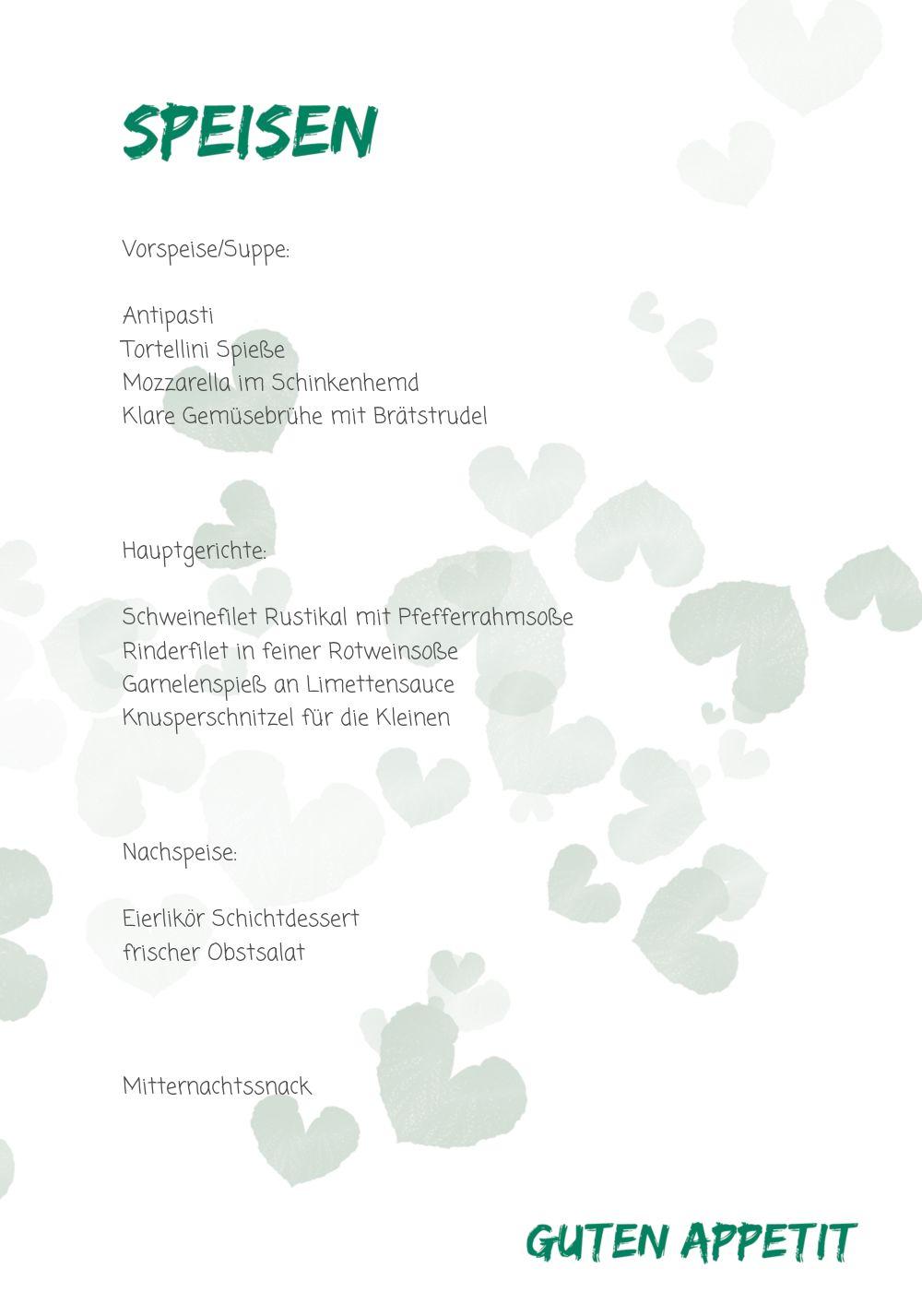 Ansicht 5 - Hochzeit Menükarte Liebesglück