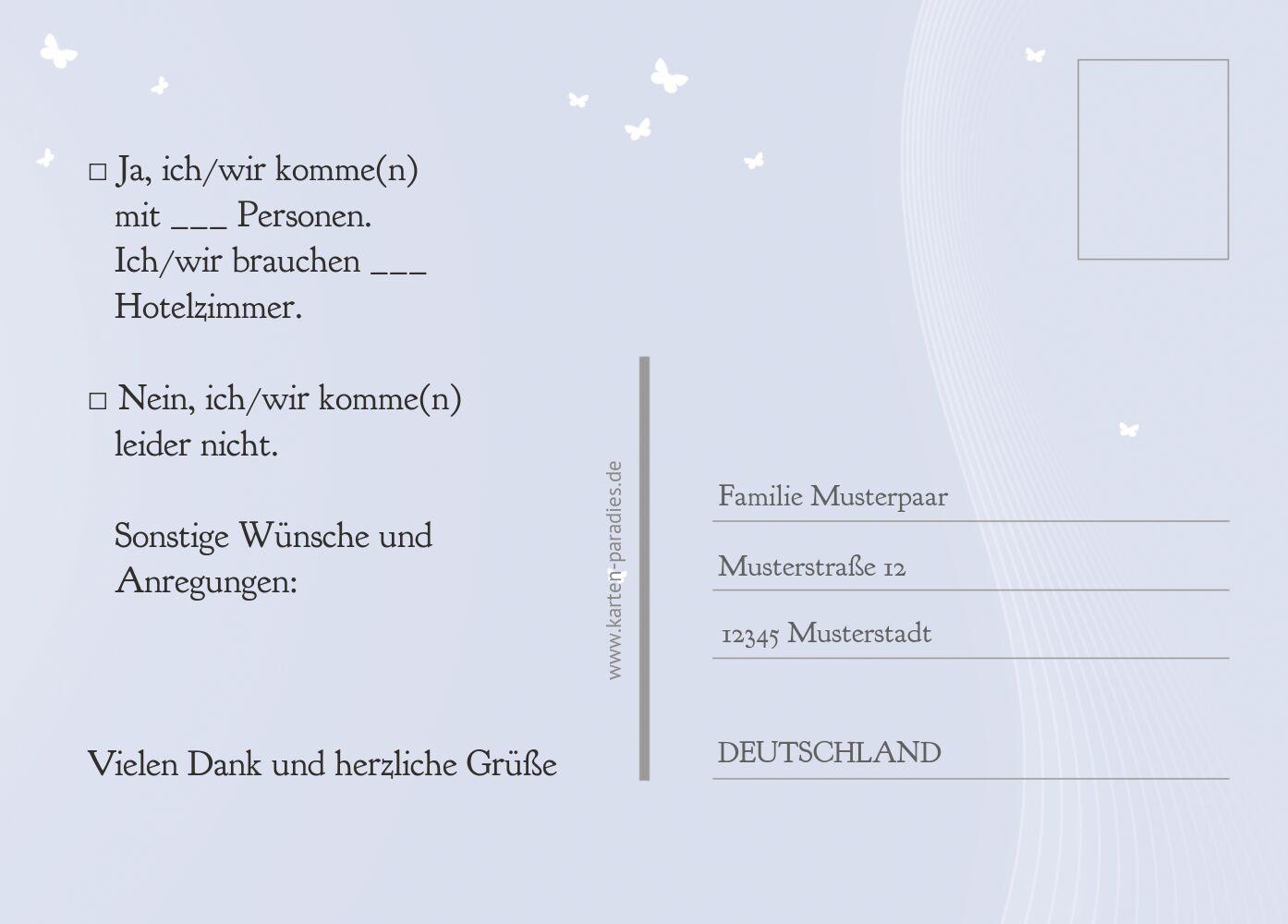 Ansicht 3 - Hochzeit Antwortkarte Traumpaar