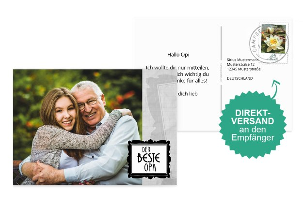 Fotospruchkarte Bester Opa