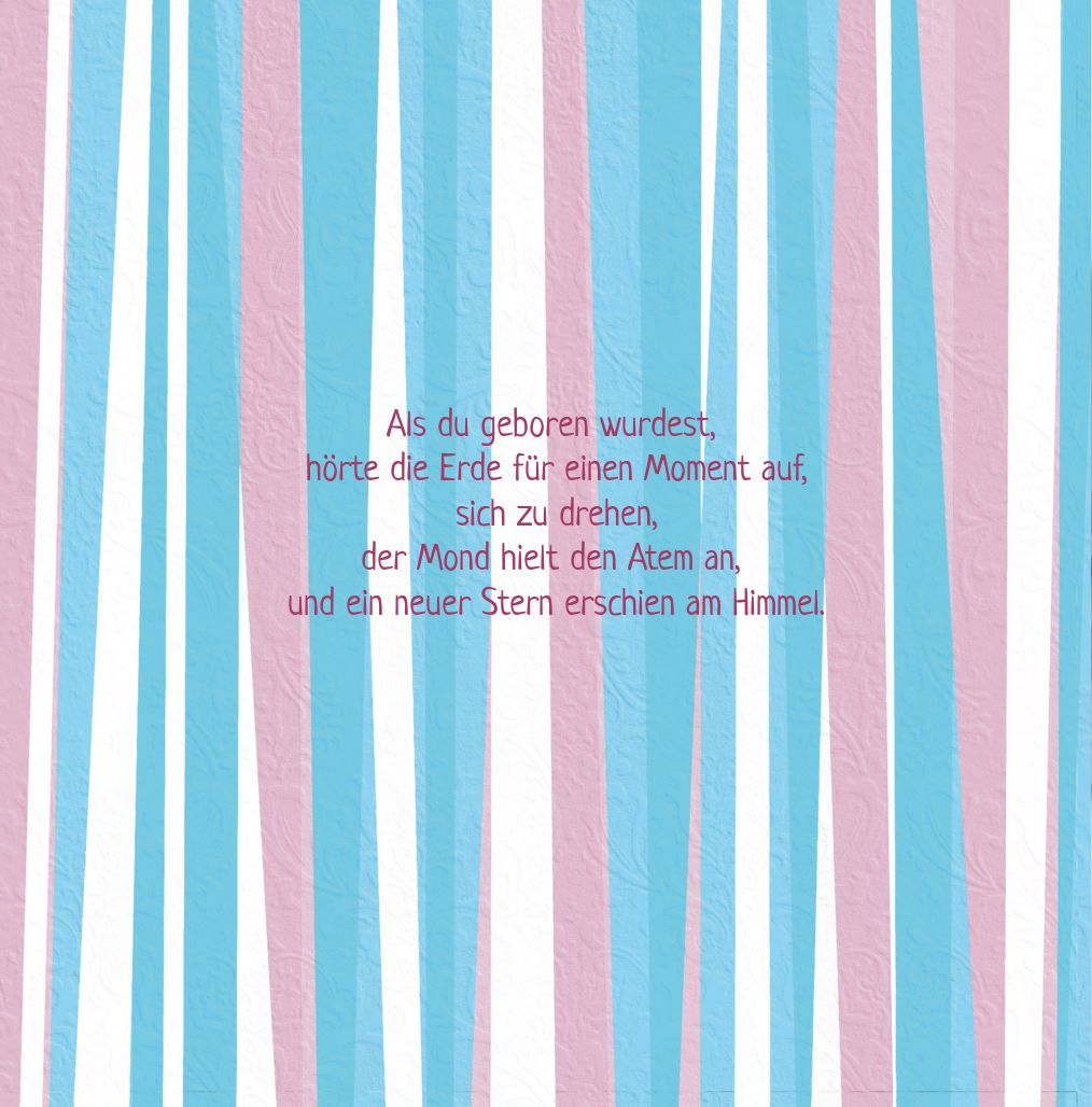 Ansicht 5 - Babykarte hearts and stripes