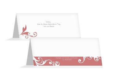 Hochzeit Tischkarte squiggle square