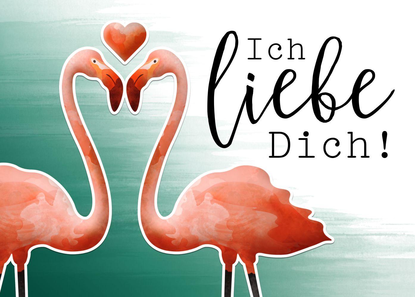 Ansicht 2 - Spruchkare Flamingo