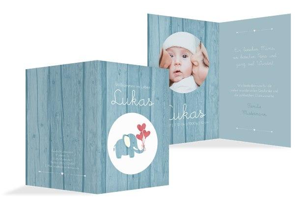 Babykarte Elefant