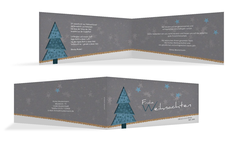 Weihnachtsgrußkarte Farbbäumchen