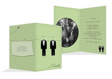 Hochzeit Dankeskarten suits