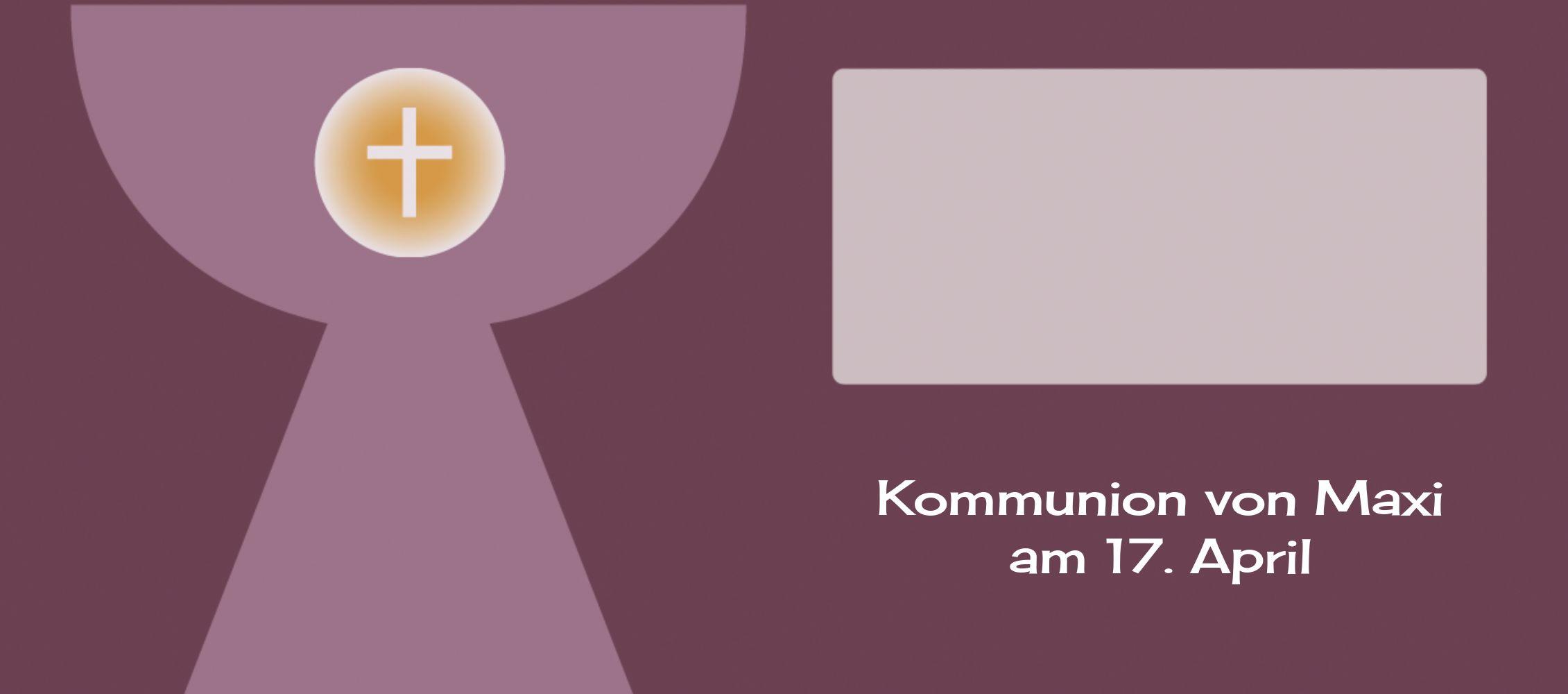 Ansicht 3 - Kommunion Tischkarte Kelch mit Hostie