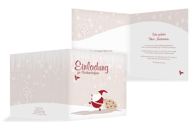 Einladung Weihnachtsmann
