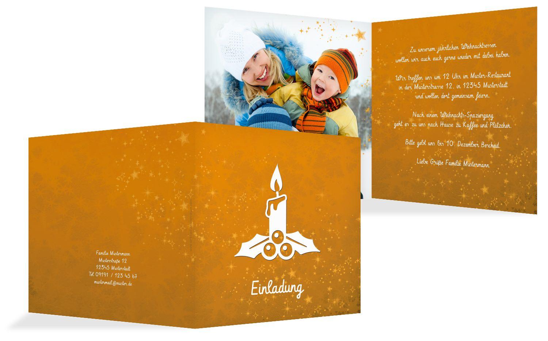 Foto Einladung Advent