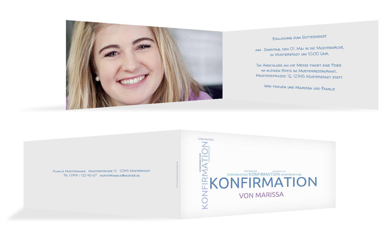 Einladungskarte zur Konfirmation Script