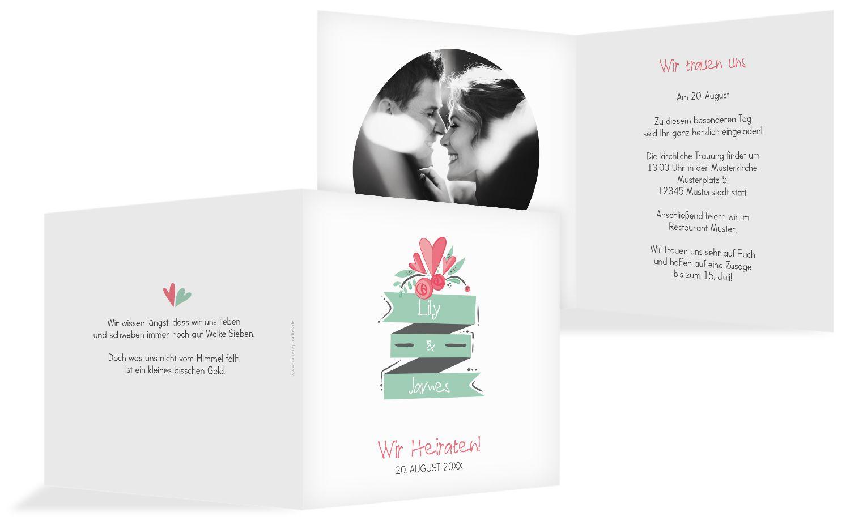 Hochzeit Einladung Du & Ich