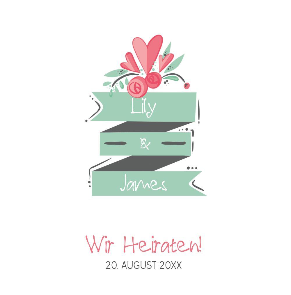 Ansicht 3 - Hochzeit Einladung Du & Ich