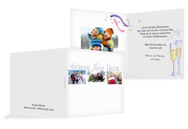 Neujahrskarte Fotostrecke
