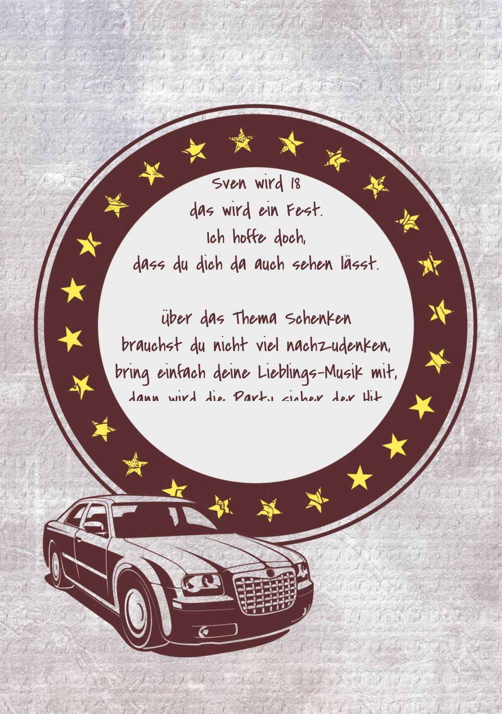 Ansicht 4 - Einladung zum Geburtstag Car Star 18