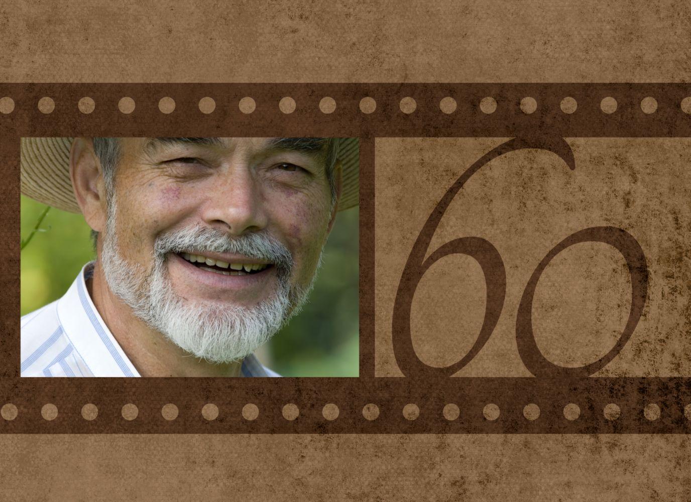 Ansicht 3 - Geburtstagseinladung Retrofilm 60 Foto
