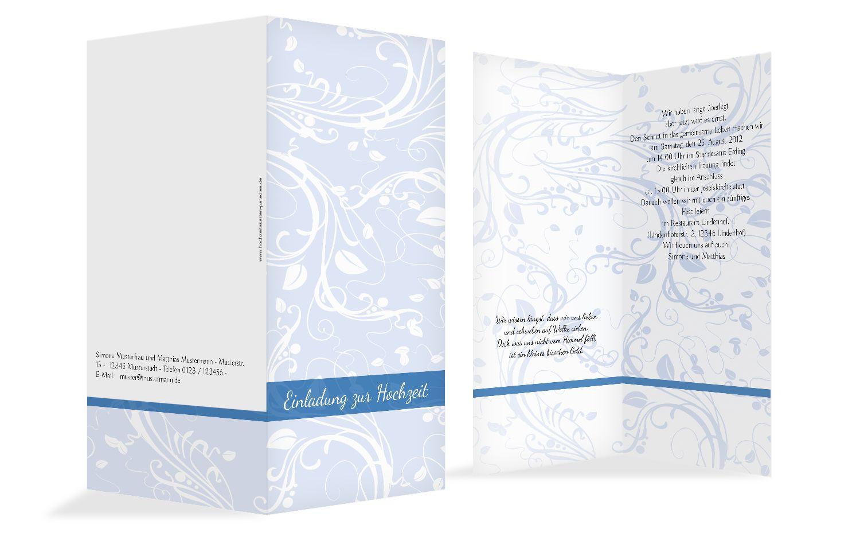 Hochzeit Einladung Blättertraum 2