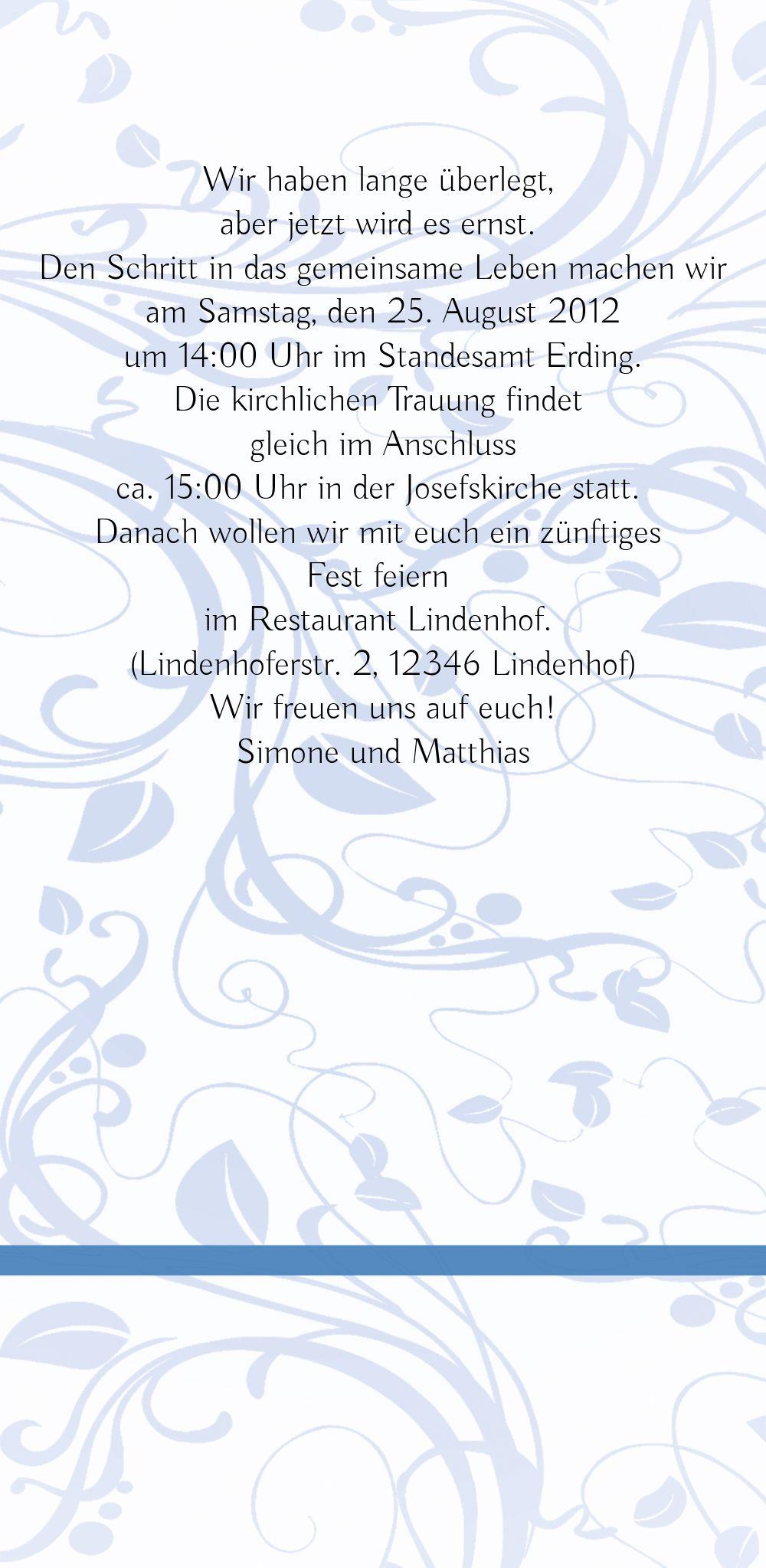 Ansicht 5 - Hochzeit Einladung Blättertraum 2