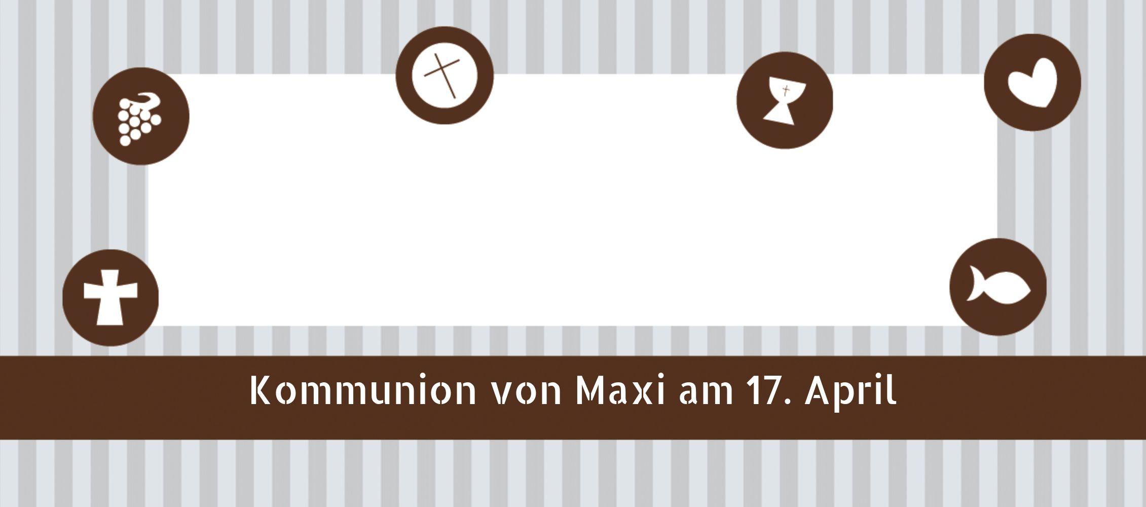 Ansicht 3 - Tischkarte Kommunion stripes-buttons